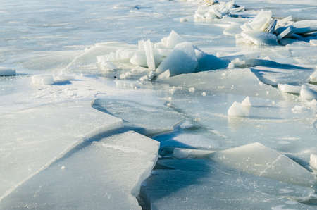 Fragments of ice frozen sea. Photo Close-up Stock Photo - 17127879