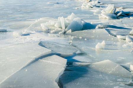 Fragments of ice frozen sea. Photo Close-up Stock Photo - 17127879