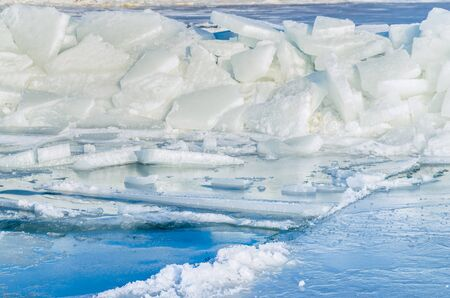 Fragments of ice frozen sea. Photo Close-up Stock Photo - 17127880
