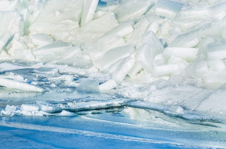 Fragments of ice frozen sea. Photo Close-up Stock Photo - 17127869