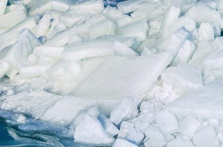Fragments of ice frozen sea Stock Photo - 17127865