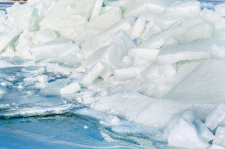 Fragments of ice frozen sea. Photo Close-up Stock Photo - 17127866