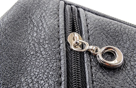 Items of clothing buttons, buckles and zippers. Photo Close-up photo