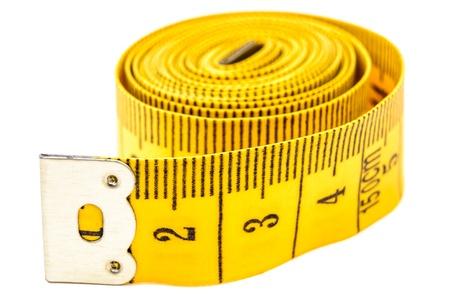 Flexible meter roll. Photo Close-up Standard-Bild