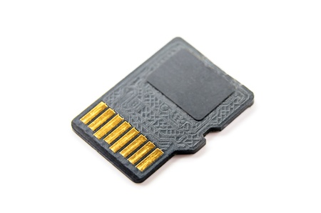 Memory card micro CD. Photo Close-up Stock Photo - 18879545
