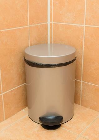 Bin in the bathroom.  photo