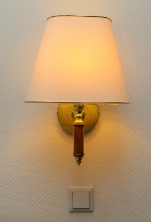 Wall lamp. Photo Close-up photo
