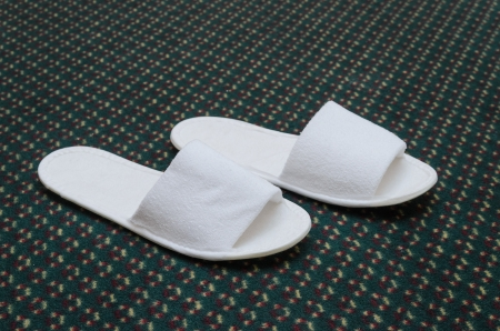 Slippers on the floor. Photo Close-up photo