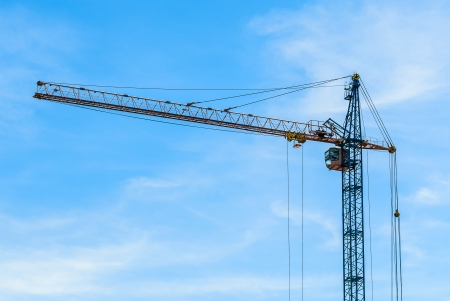 Building tower crane. Photo for microstock photo