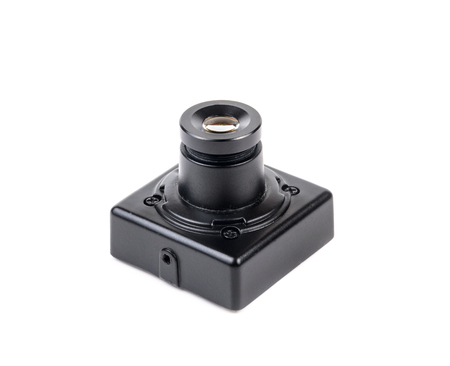 Miniature video camera for protection. For microstock photo on white background Stock Photo - 24076751