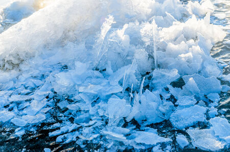 Patterns on ice. Photo for microstock photo
