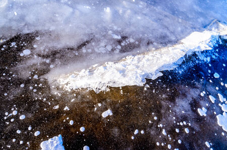 Patterns on ice. Photo for microstock Stock Photo