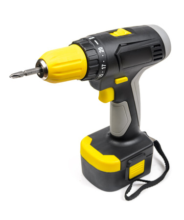 Cordless Screwdriver. Microstock photography for over a white background Standard-Bild