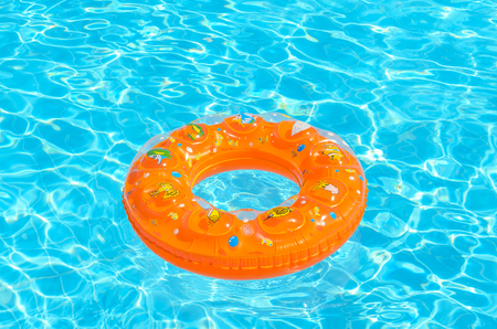 Children circle for swimming in the pool. Photo for microstock