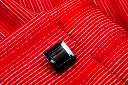 Cufflinks shirt sleeve. Photo for microstock