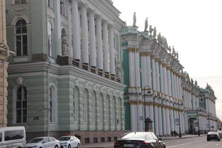View to street in Saints-Petersburg Editorial