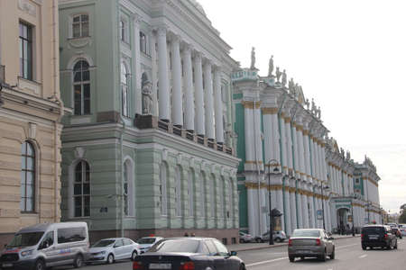View in street to palace . Saints-Petersburg