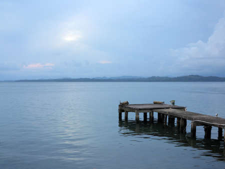 colon panama: Calm in a dock on Isla Colon - Panama Stock Photo