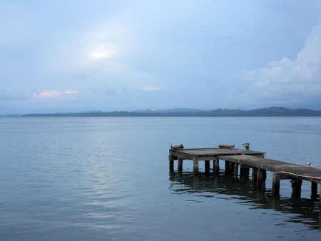 colon panama: Calm in a dock on Isla Colon - Panama Stock Photo