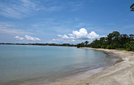 Beach in Isla Colon Panama Stock Photo