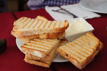 Bread and garlic mayonnaise sauce  alioli