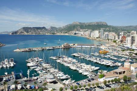 Aerial view of Calpe, Alicante