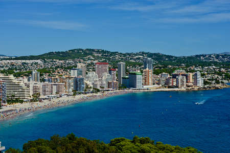 Aerial view of Calpe, Alicante  Stock Photo