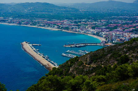 View of the coast of Javea in Spain Stock Photo
