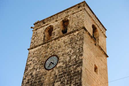 Church bell tower in J‡vea, Spain