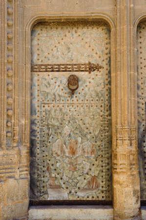 Church door in Javea, Spain