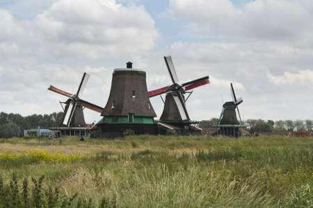 Windmills of the Zaanse Schans, Holland Stock Photo - 16442322