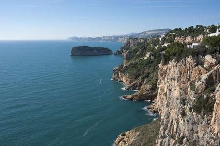Javea coast view from Cape Nao, Spain