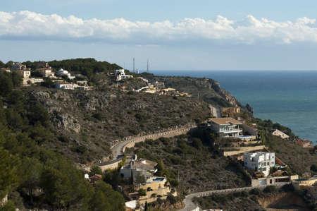 Views of houses from La Plana Windmills in Javea, Spain.