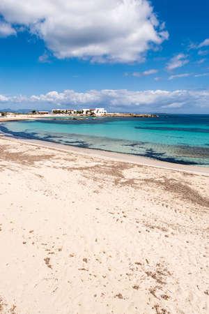 els: Els Pujols beach in Formentera island, Mediterranean sea, Spain
