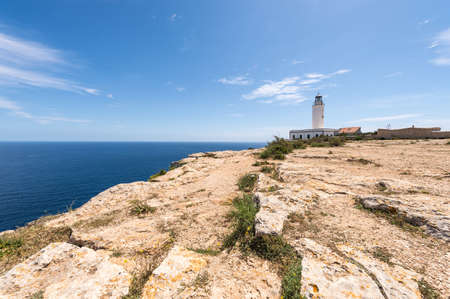 Formentera La Mota lighthouse balearic islands mediterranean Sea photo