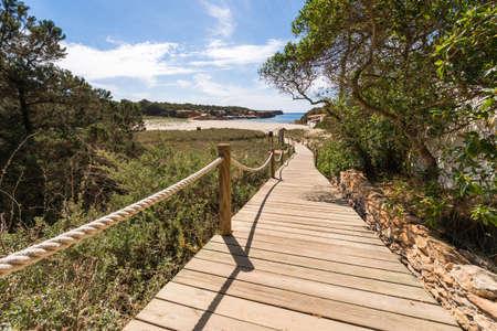 Beach way to Saona beach in Formentera Balearic islands