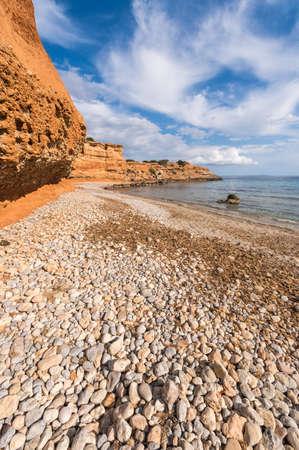 Sa Caleta beach in Ibiza, Spain