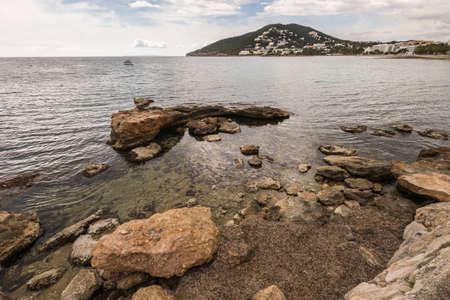 Santa Eulalia coastline in Ibiza, Spain