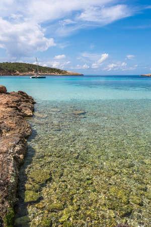 Portinatx coastline in Ibiza, Spain Stock Photo
