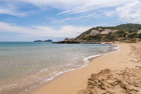 Figueral beach in Ibiza, Spain