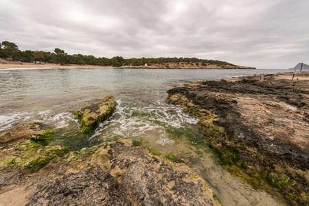 Bassa beach in Ibiza, Spain - April