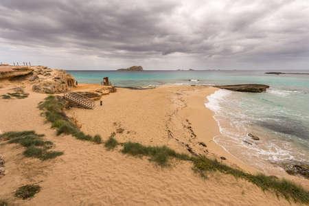 Conta beach in Ibiza, Spain