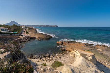 Cala Blanca  and Javea coastline, Spain Stock Photo