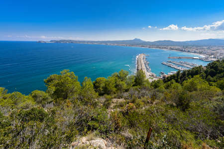Alicante Javea harbour beach cityscape view