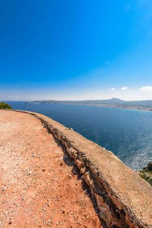 Views of Javea town from San Antonio Cape, Spain