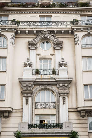 Classic building corner in Bilbao, Spain