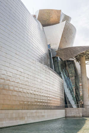 BILBAO, SPAIN - JULY 19  The Guggenheim Museum in Bilbao, Spain, on July 19, 2013  The Guggenheim is a museum of modern and contemporary art designed by Canadian-American architect Frank Gehry
