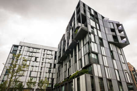 Modern building corner in Bilbao, Spain  Editorial