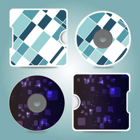 Compact disc different designs vector cover Vector