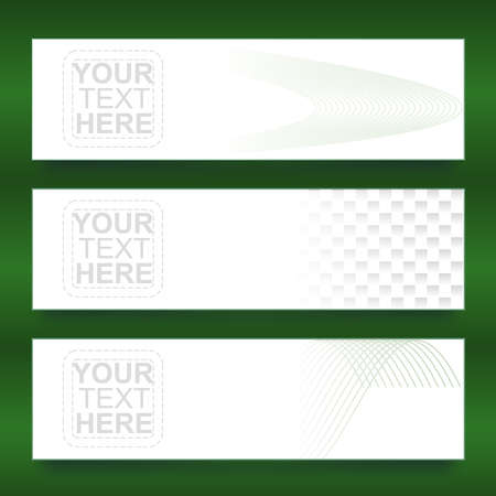 Three different styles banner design over nice green background Stock Vector - 18386017